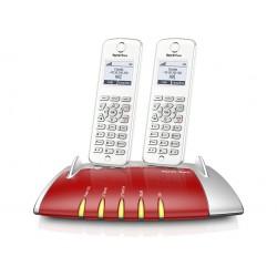 Central Telefónica Analógica, RDIS, IP com 2 Telefones C6