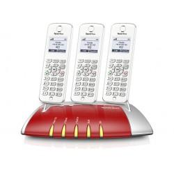 Central Telefónica Analógica, RDIS, IP com 3 Telefones C6