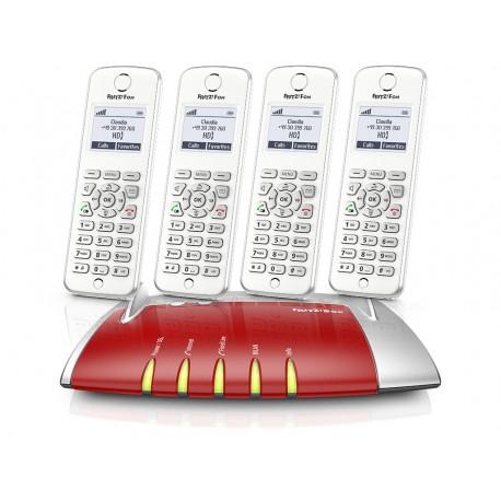 Central Telefónica Analógica, RDIS, IP com 4 Telefones C6